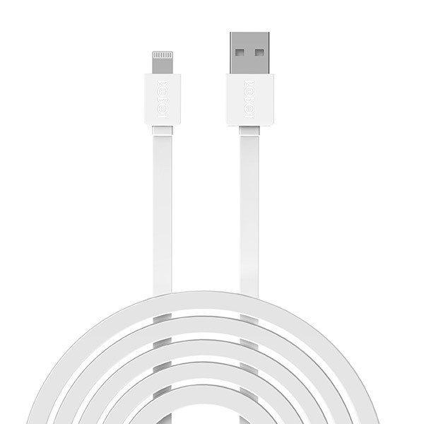 Kabel Data Robot Rdl100 1m Untuk iPhone 5/ 5s/ 6/ 6s - Putih