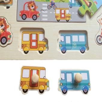 Kayla Org Mainan Edukasi Puzzle Knob Kayu Transportasi Rumah Rp 45 000 .
