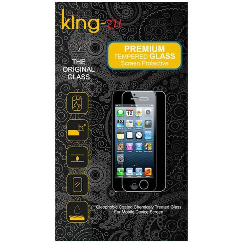 King-Zu Glass untuk LG G Prolite Dual / D686 - Premium Tempered Glass Round Edge 2.5D