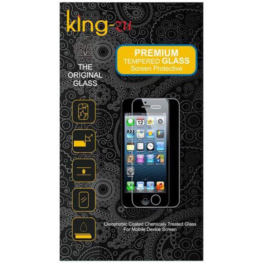King-Zu Glass untuk Nokia 535 - Premium Tempered Glass Round Edge 2.5D