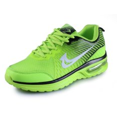 Kingdom Mall Men's Casual Mesh Breathable Running Shoes Jogger Sneakers Lace Up Green (Intl)