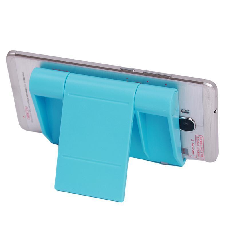 LALANG Universal Adjustable Foldable Desk Tablet Mobile Phone Stand Holder (Blue) (Intl)
