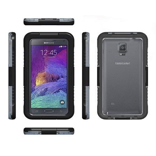 Lancase Waterproof Shockproof Hard Case for Samsung Galaxy Note 2 N7100 (Black)