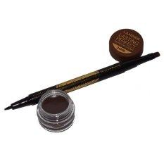 Landbis Eyebrow Gel 3 In 1 Eyeliner & Brush # 02 - Dark Brown