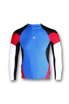 Lasona Baju Atasan Renang Pria Bm S2865 L4 Biru Hitam