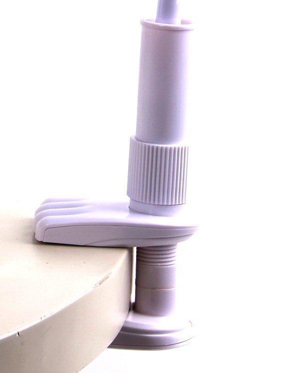 Lazy Pod Jepit Narsis Gagang Baby 90 cm - Jepsis Lazypod Monopod Tongsis Holder Besi Smartphone - Putih