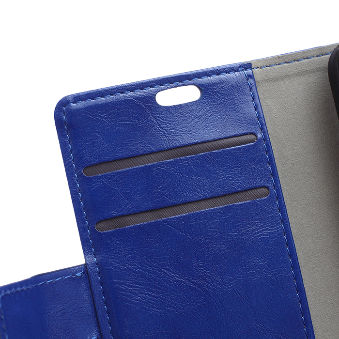 Leather Flip Case with Card Slot for Alcatel PIXI 3 OT4013 (Blue) (Intl)