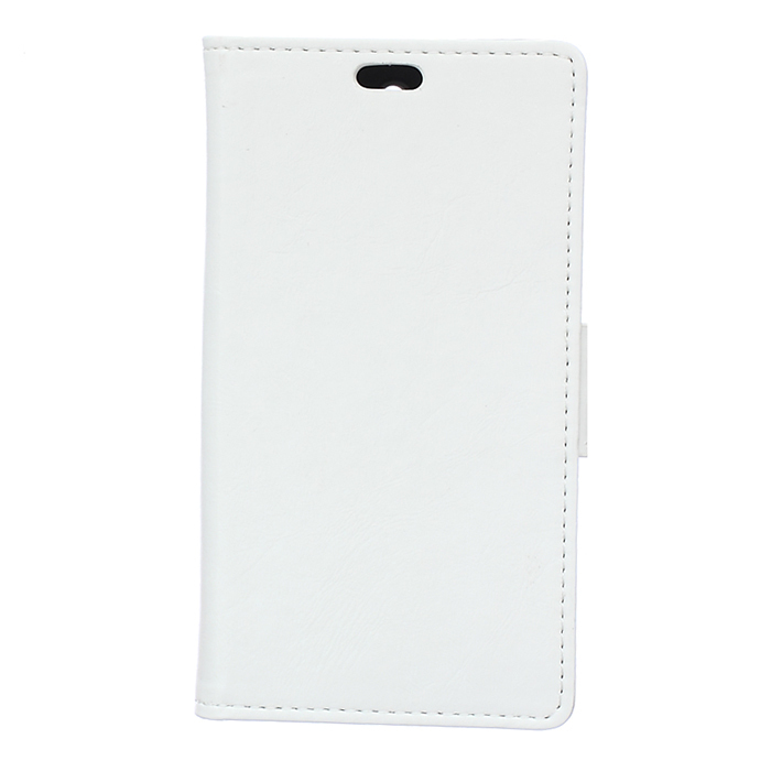 Leather Flip Case with Card Slot for HTC Desire 320 (White) (Intl)