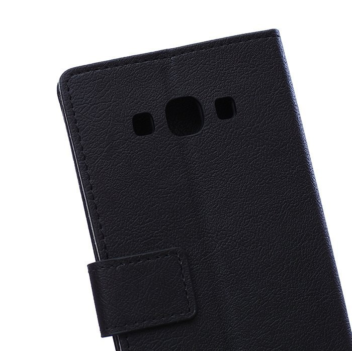 Leather Flip Case With Card Slot for Samsung Galaxy A8 (Black) (Intl)