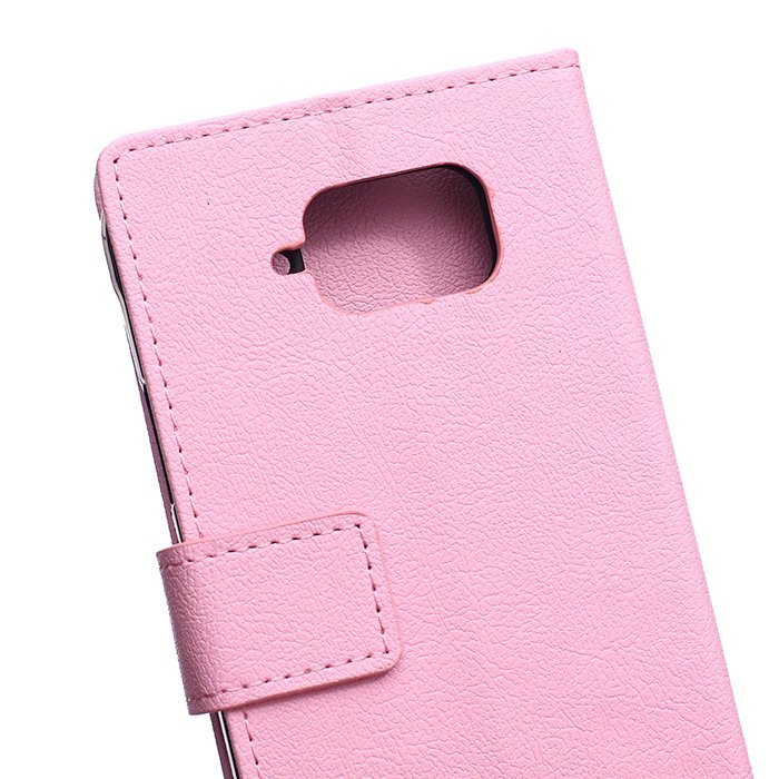 Leather Flip Case With Card Slot for Samsung Galaxy S6 Active G890 (Pink) (Intl)