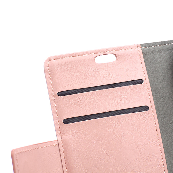 Leather Flip Case with Card Slot for Samsung Galaxy Trend 2 Lite G318H (Pink) (Intl)