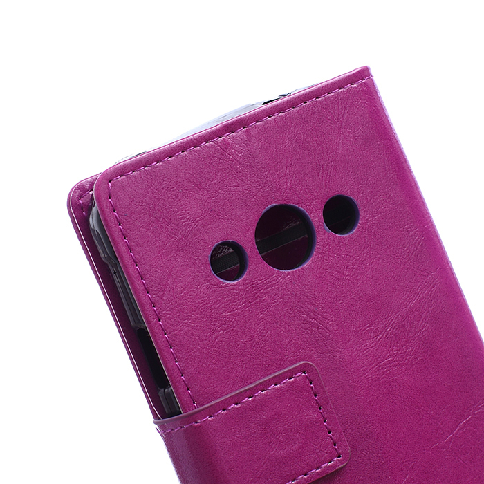 Leather Flip Case with Card Slot for Samsung Galaxy Xcover 3 G388 (Purple) (Intl)