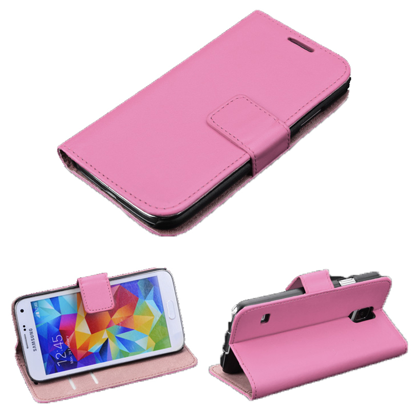 Leather Flip Cover for Samsung Galaxy S4 i9500 (Pink) (Intl)