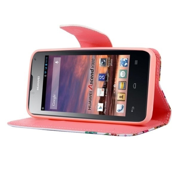 Leather Heart and Diamond Ring Pattern Horizontal Flip Cover for Huawei Y560 (Multicolor) (Intl)