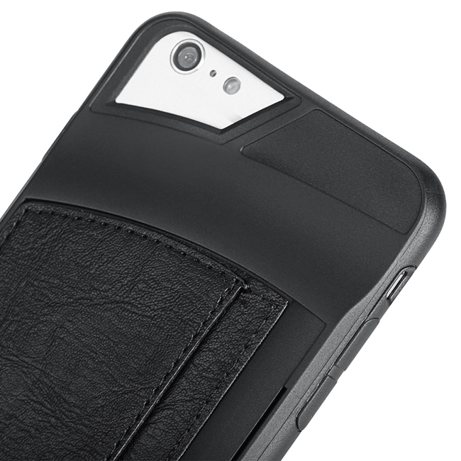 Leather Patchwork Soft Case for Apple iPhone6 Plus (Black) (Intl)