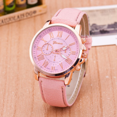 Leather Quartz Watches Casual Women Analog Geneva Wristwatches Digital Ladies Students Children Women Watches Relogio Feminino (Pink)