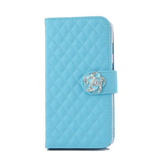 Leather Wallet Case for iPhone 5/5S (Blue)