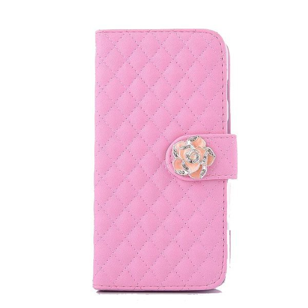 Leather Wallet Case for Sony Z4 (Pink)