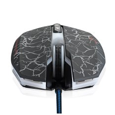 LED Optical 2400 DPI USB 6 Button Wired Professional Colorful Backlight Game Gaming Mouse Mice 800/1200/1600/2400 DPI Adjustable For Pro Gamer (Intl)