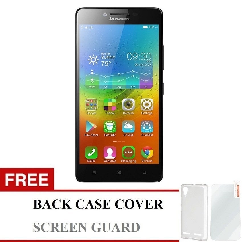 Lenovo A7000 Plus Special Edition - 16 GB - Black +Gratis Back Cover + Screen Protector