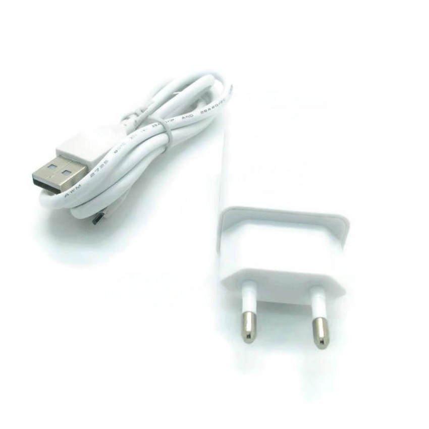 Lenovo Travel Charger + Cable Data Micro Putih Dekstop