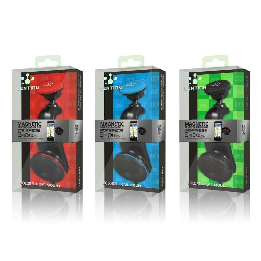 LENTION C500 Universal Magnetic Car Windshield Dashboard Mount Holder Pad Cradle Stand for iPhone 6 6S Samsung (Black) (Intl)