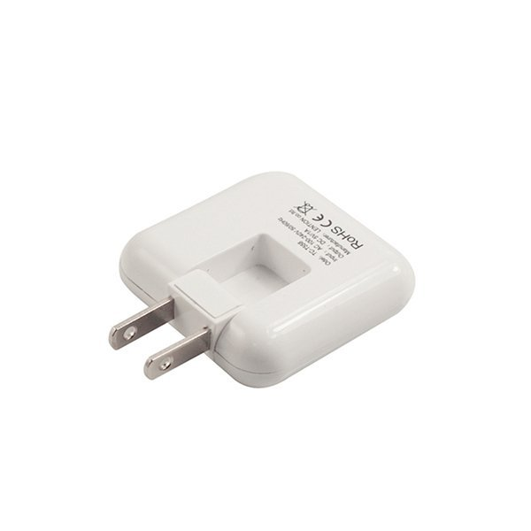 LENTION Rotatable High Speed USB Travel Wall Charger Adapter Foldable Plug for Apple iPhone Android Device White (Intl)