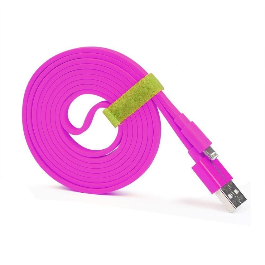 Letouch 1.5M Flat Sync Charge Noodle iPhone USB Lightning Cable Lead (Purple)