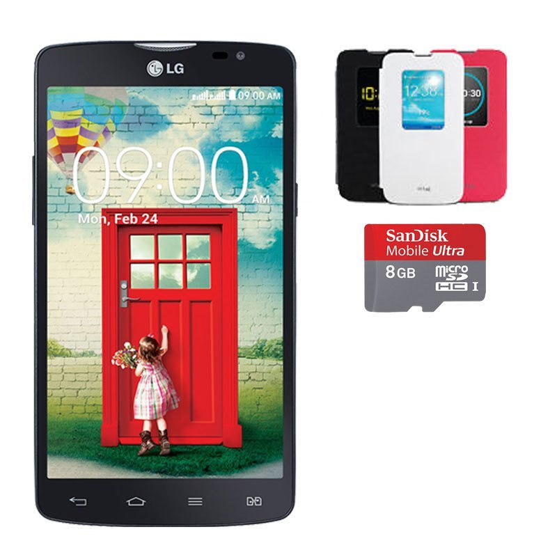 LG L80 Dual - Hitam Free Quick Window + Micro SD 8GB