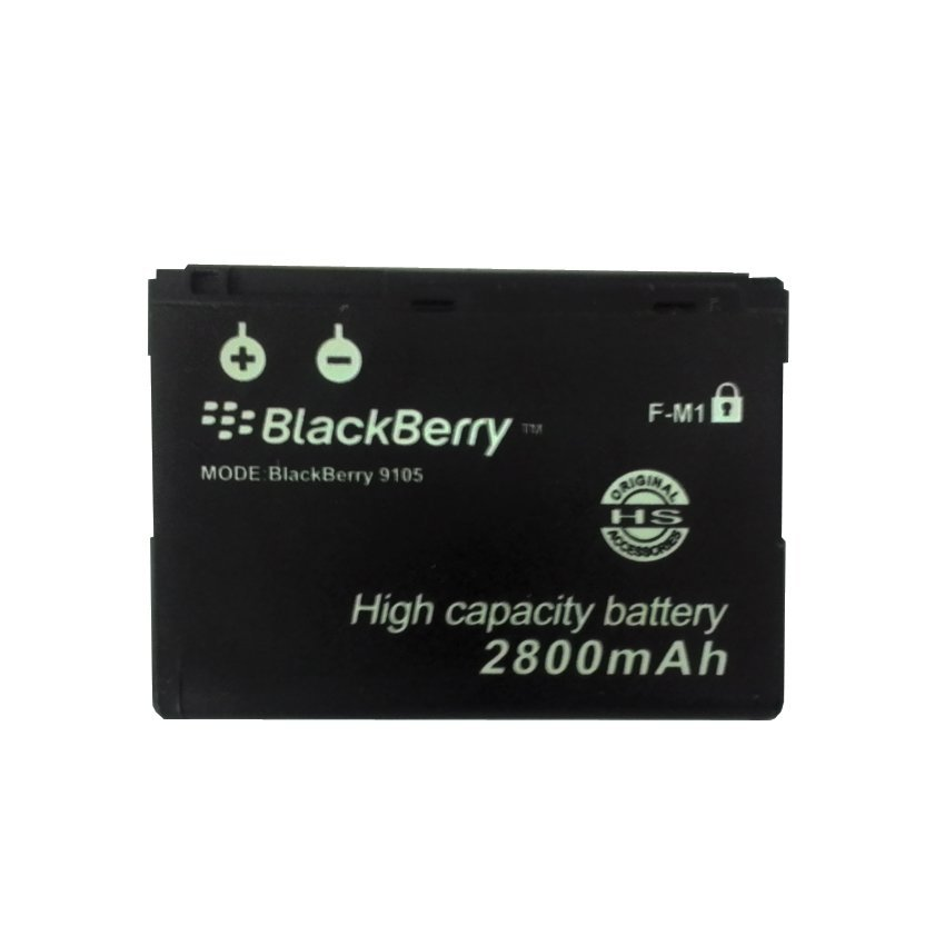 Li-ion Baterai F-M1 Double Power High Capacity 2800mAh for BlackBerry PEARL 9100 9105 Style 9670 - Hitam