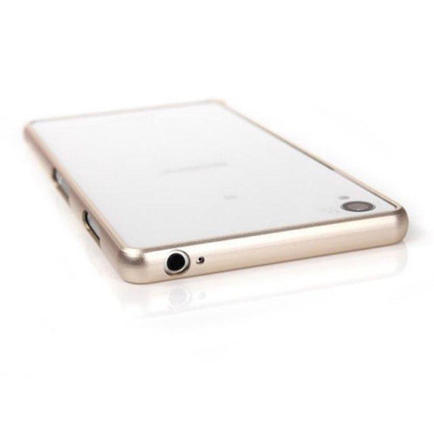 Life - Alumunium Bumper Case For Sony Xperia Z3+ - Gold