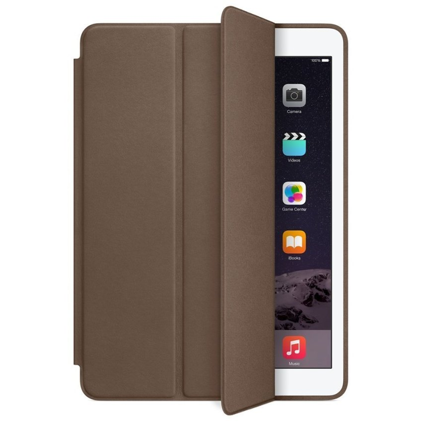 LIFE - Smart Leather Case Apple iPad Mini 4 Retina Cokelat