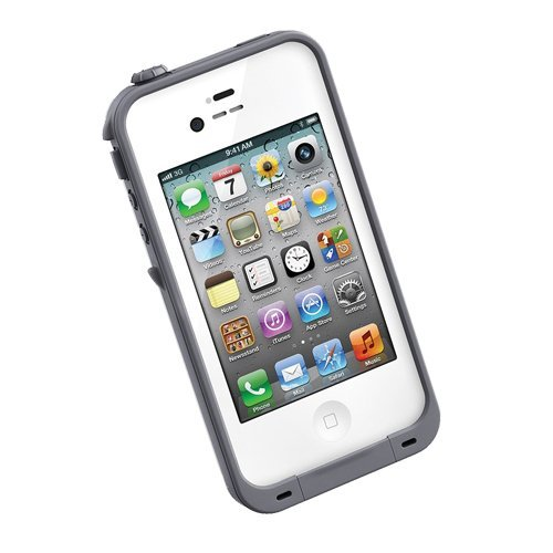 LifeProof Asli iPhone 4S/4 Case -  Fre Series - Putih/Abu-abu