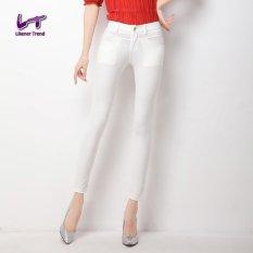 Likener Trend Casual Full Length Slim Ankle-Length Celana (White)