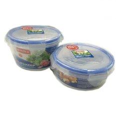 Lion Star Kotak Makan Lunch Box Set Bulat 750ml + 500ml