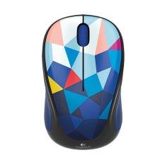 Logitech M238 Wireless Mouse - Motif Segi Biru