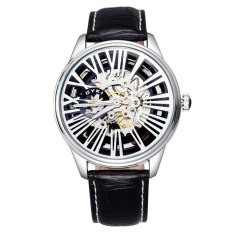 LONGBO Men's Sports Fashion Watches Leather Strap Black White 207401