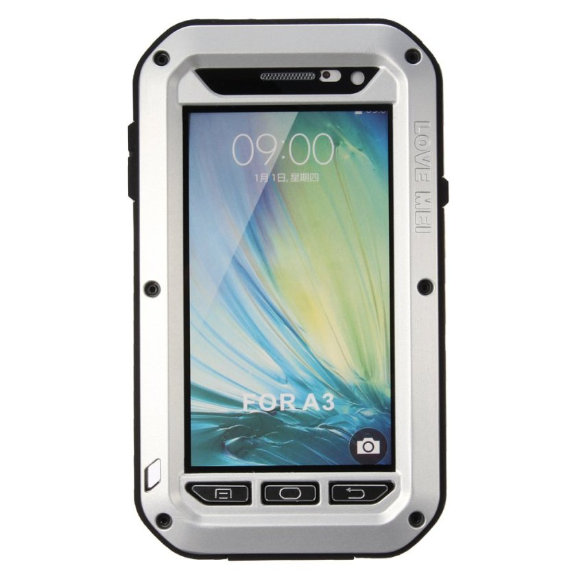 LOVE MEI Aluminum Metal Gorilla Shock/Waterproof Case For Samsung Galaxy A3/A5/A7 Silver (Intl)