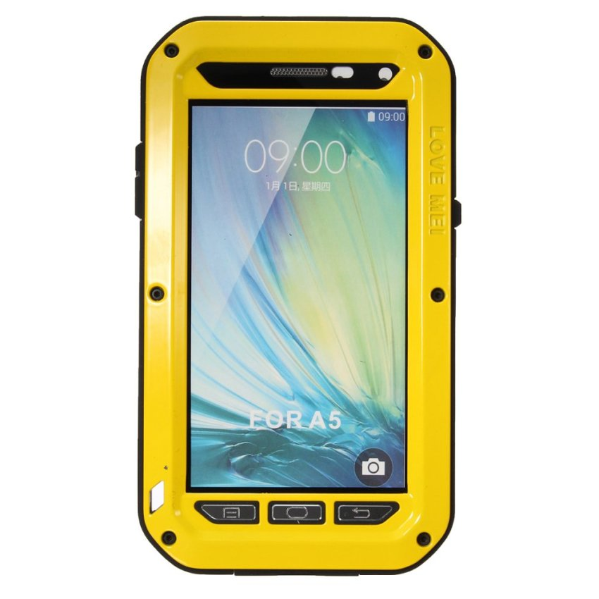 LOVE MEI Aluminum Metal Gorilla Shock/Waterproof Case For Samsung Galaxy A3/A5/A7 Yellow (Intl)
