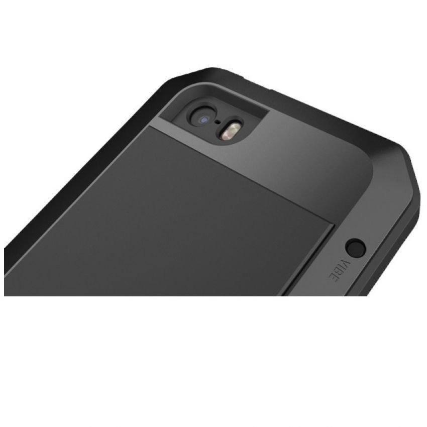 Lunatik for iPhone SE / 5S / 5 Taktik Extreme Hardcase with Gorilla Glass - Hitam