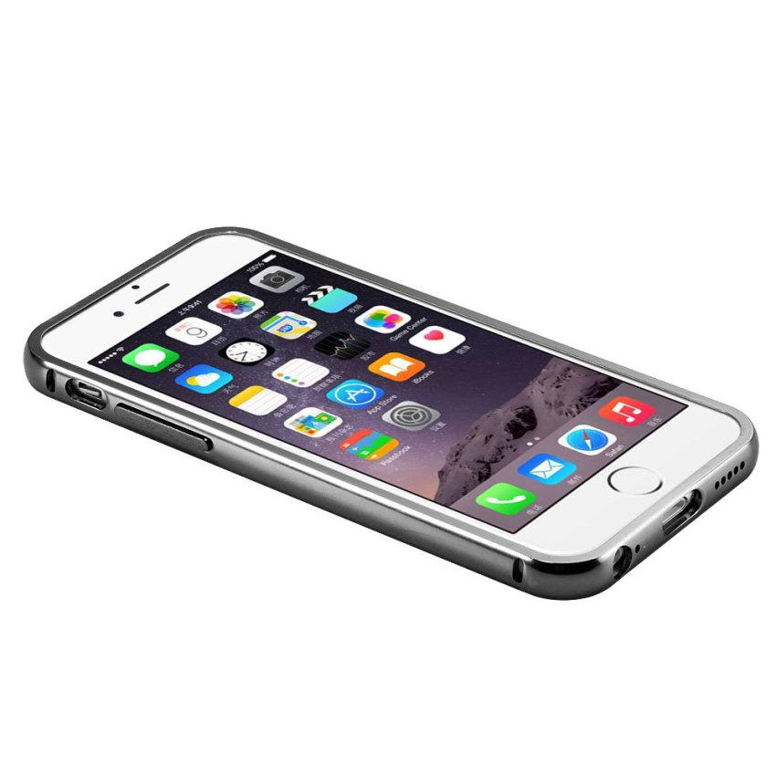 Luxury Aluminum Super-thin Mirror Metal Case for iPhone 5 5s (Black)(INTL)