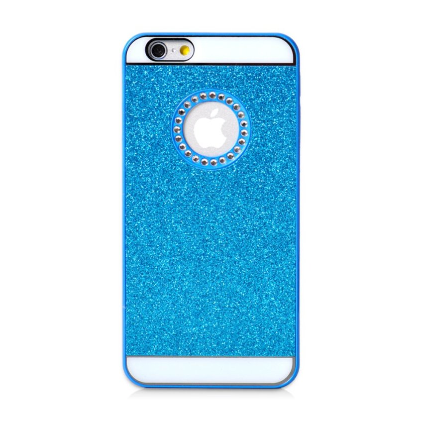 Luxury Diamond Glitter Hard Case Cover for Apple iPhone 6/6S 6s (Blue) (Intl)