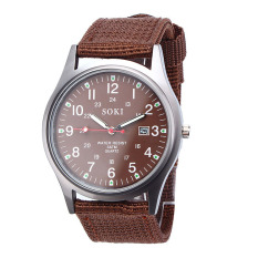 Luxury Fashion Mens Quartz Analog Watches Watch Brown Free Shipping Free Shipping