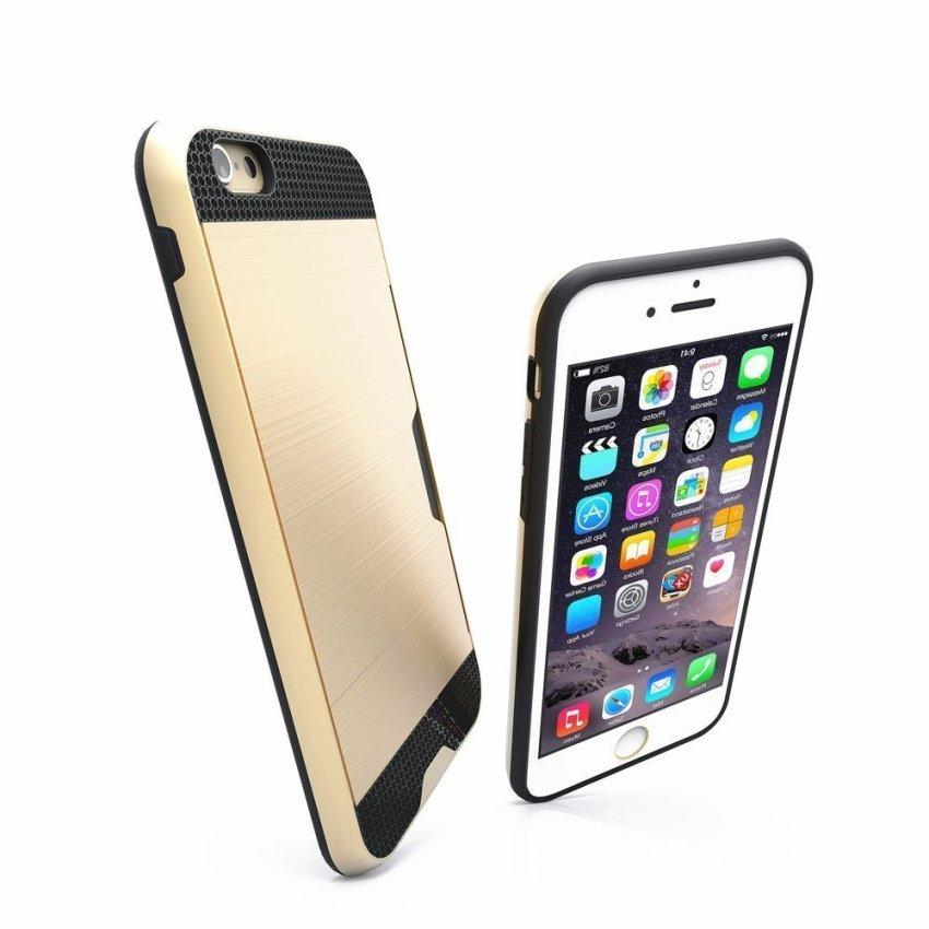 Luxury Hybrid Shockproof Armor Rubber Hard Card Case for iPhone 6 Gold/Black (Intl)