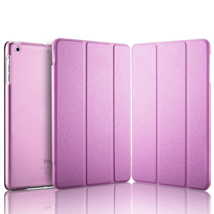 Luxury Magnetic Slim Smart Wake Leather Transparent Back Case Cover for Apple iPad mini 1 2 3 Pink(INTL)