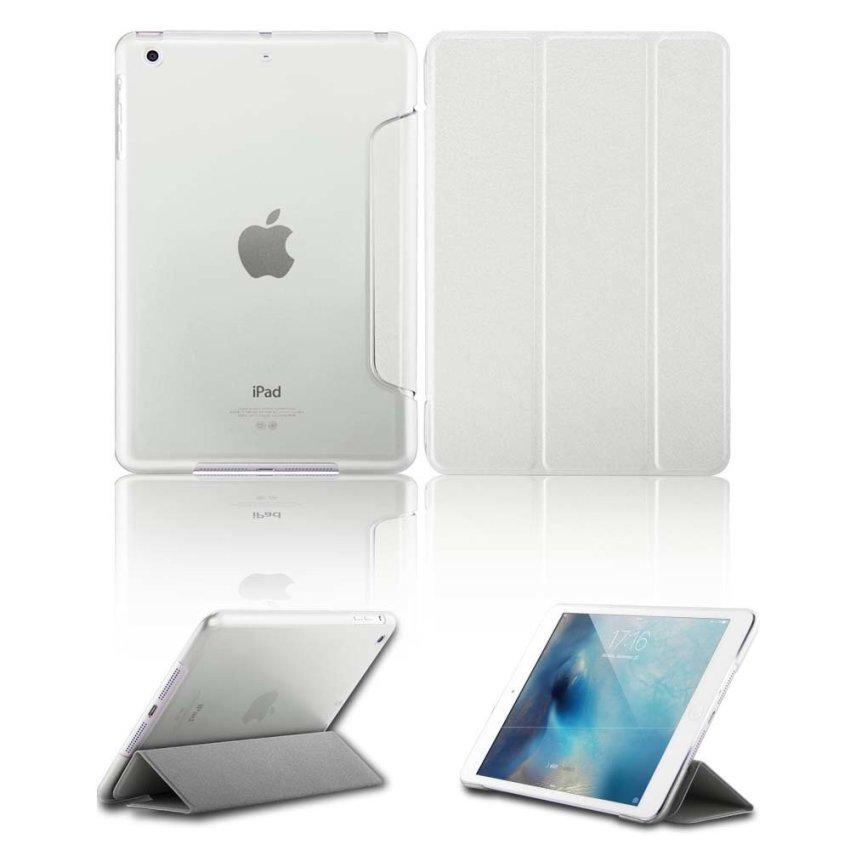 Luxury Magnetic Slim Smart Wake Leather Transparent Back Case Cover for Apple iPad mini 1 2 3 White(INTL)