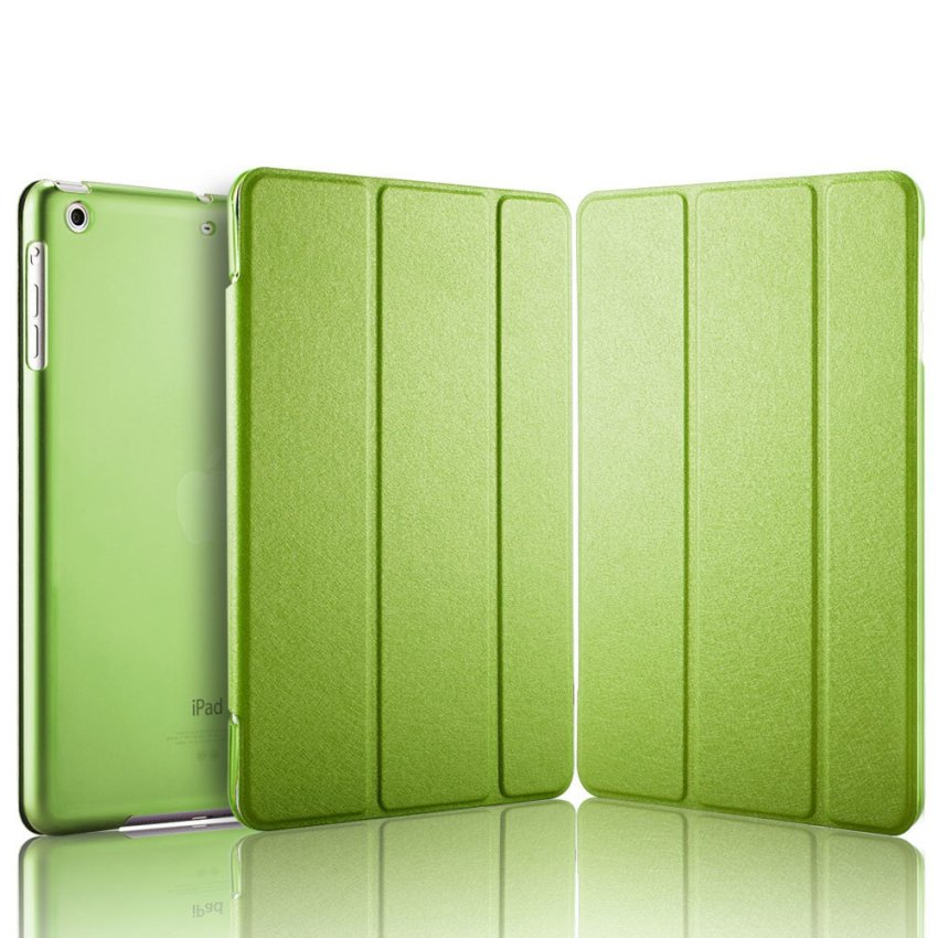 Luxury Magnetic Slim Smart Wake Leather Transparent Back Case Cover for Apple iPad mini 4 Green(INTL)