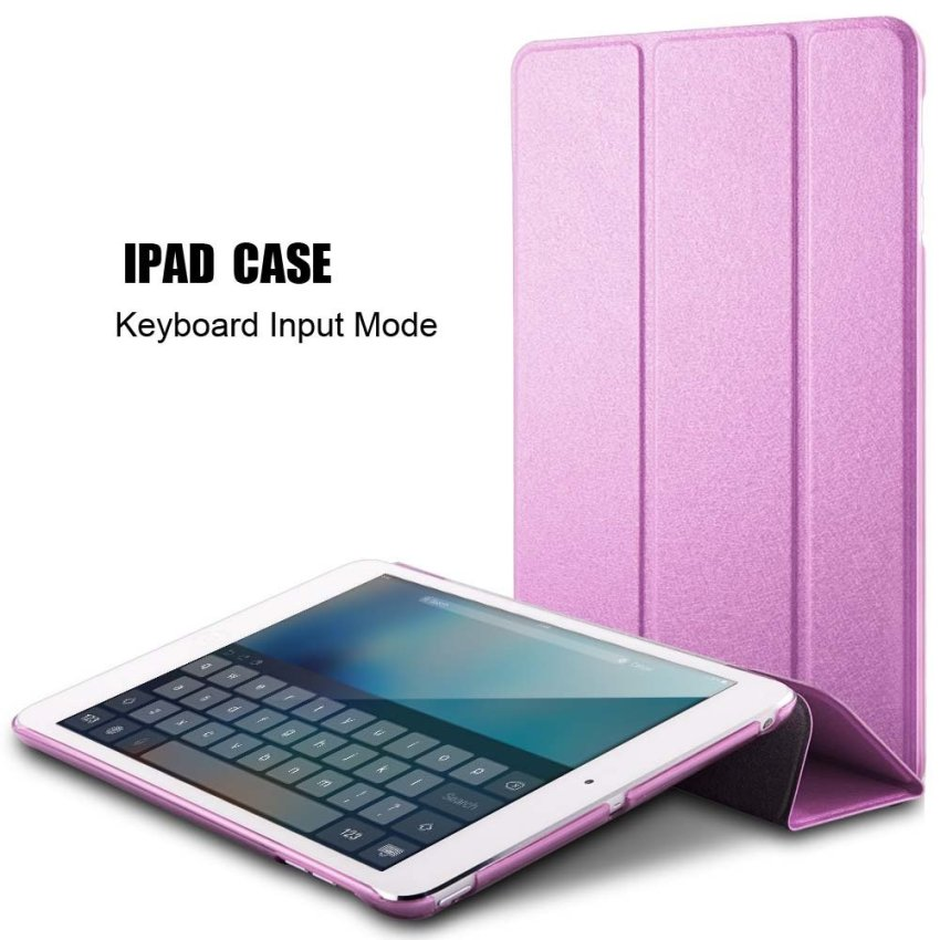 Luxury Magnetic Slim Smart Wake Leather Transparent Back Case Cover for Apple iPad mini 4 Pink(INTL)