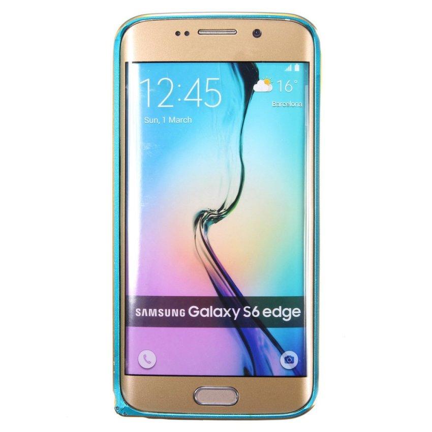 Luxury Slim Metal Bumper Case for Samsung Galaxy S6/S6 Edge (Blue) (Intl)