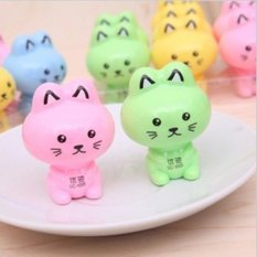 Maryswill Cute Cat Shape Pencil Sharpener Office Stationery MultiColor